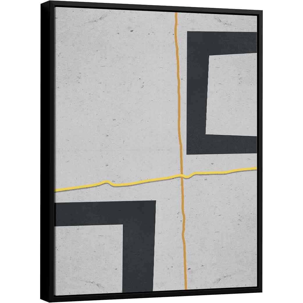Quadro Abstrato Paralelos - Coleção Urbana