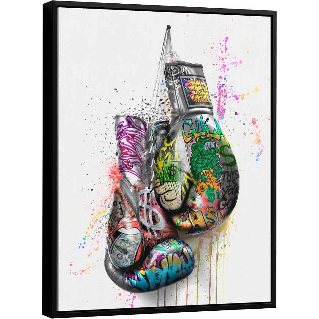 Quadro Luva de Boxe Grafite CRAIG