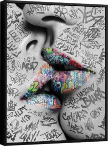 Quadro O Beijo Grafite CRAIG